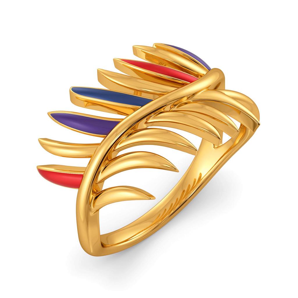 Plume Palette Gold Rings