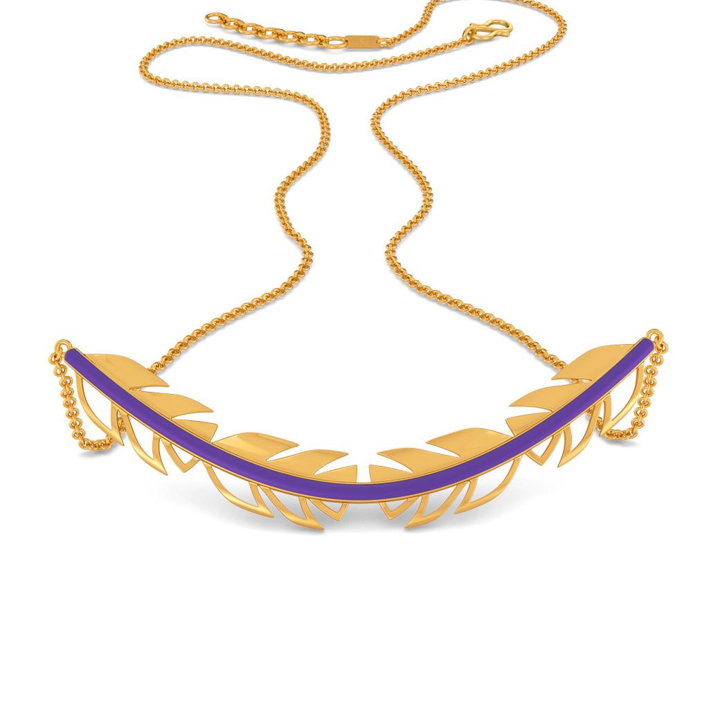 Violet Vibes Gold Necklaces