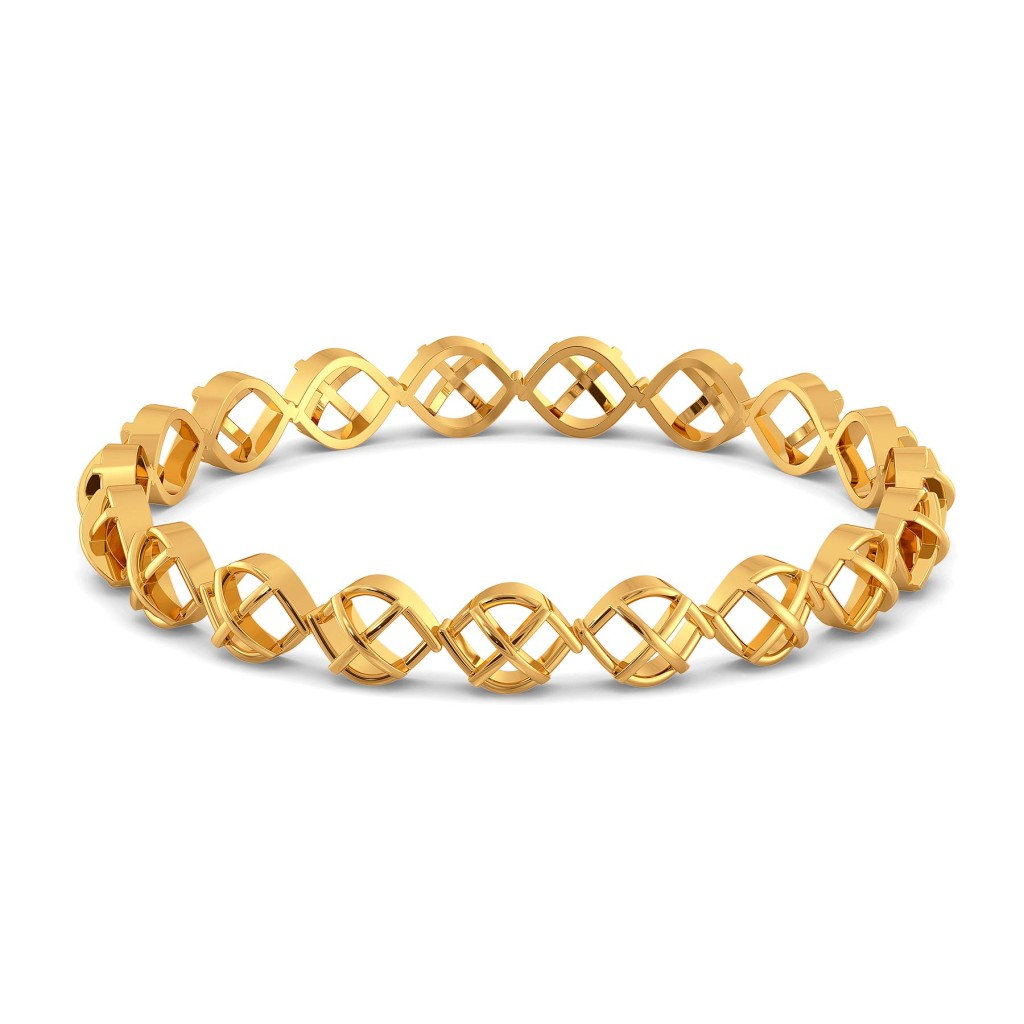 Knit Wit Gold Bangles