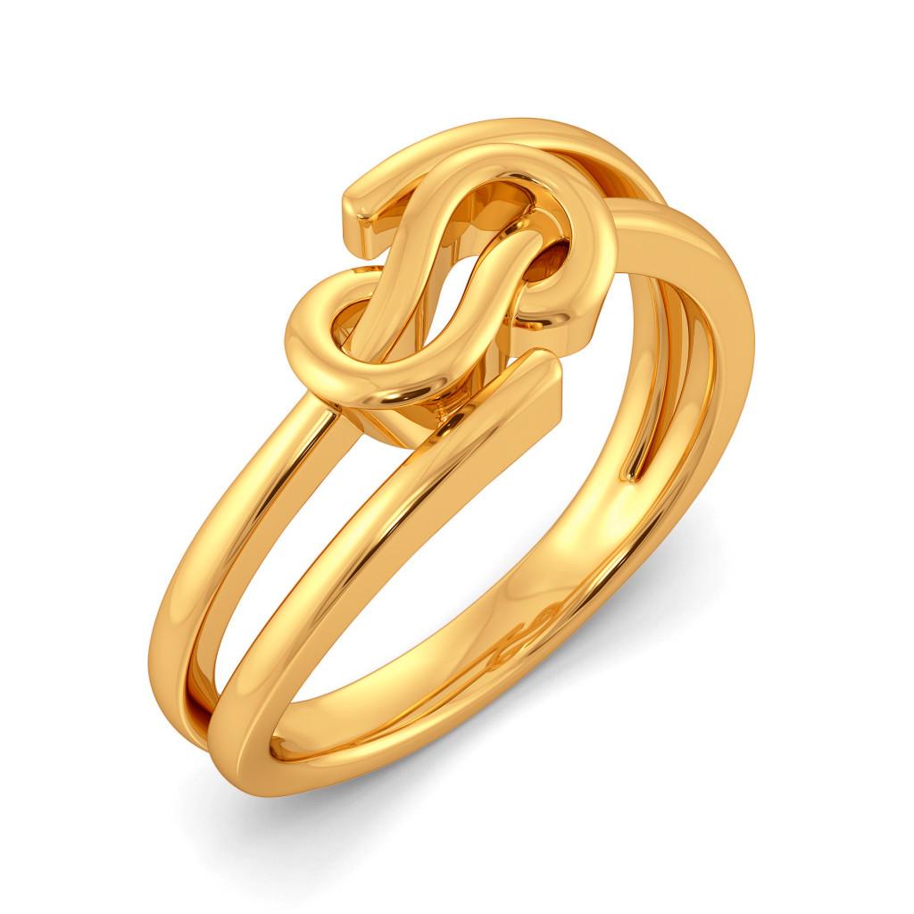 Fringe Braids Gold Rings
