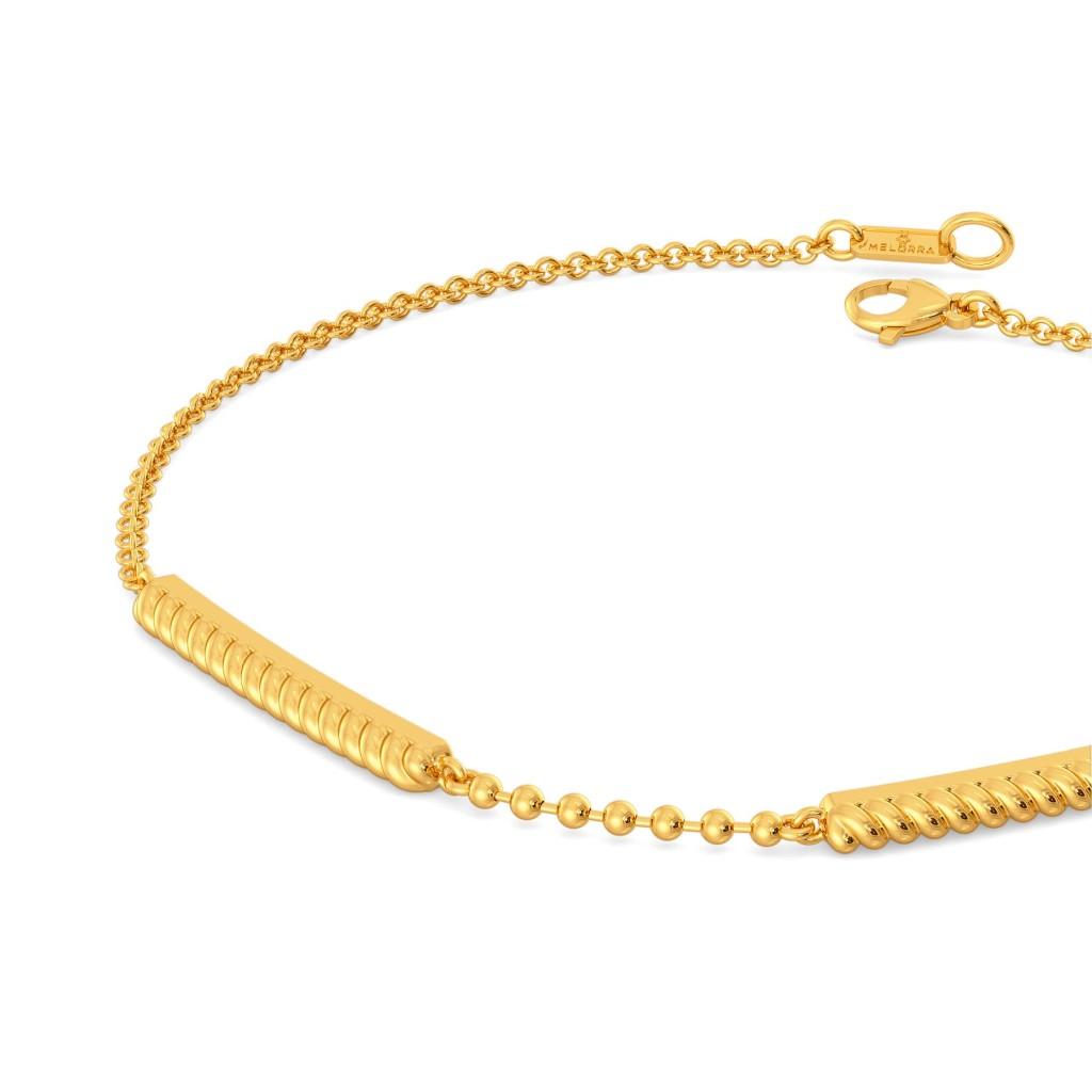 Flick A Fringe Gold Bracelets