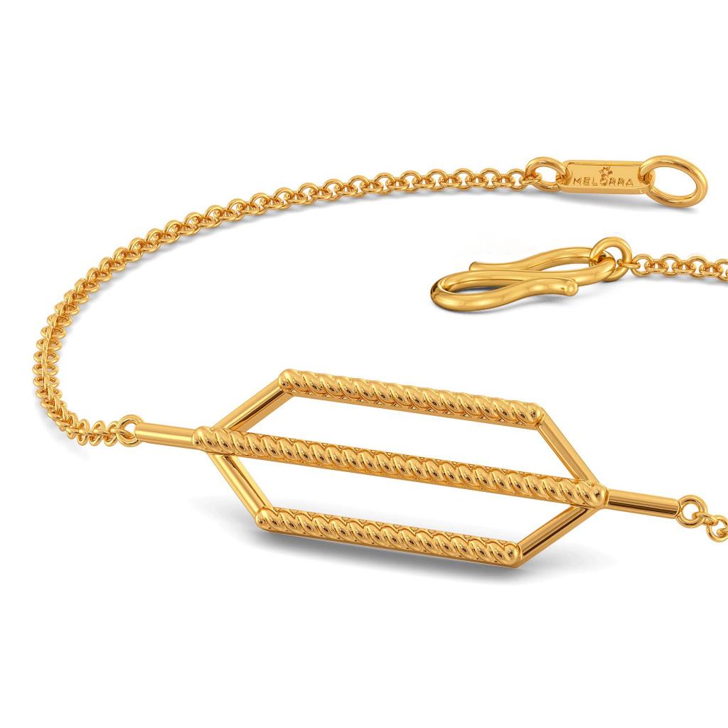 Fringe Twirls Gold Bracelets