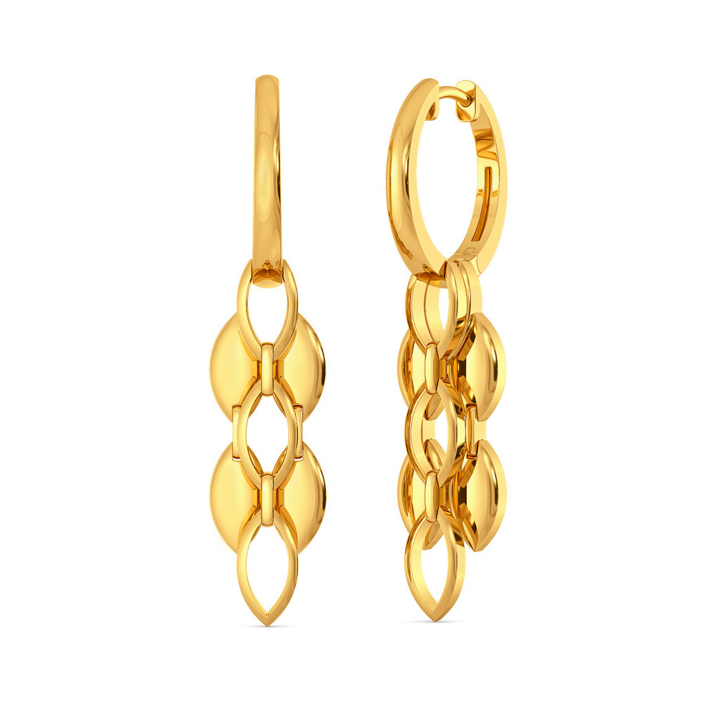 Link in Sync Gold Earrings
