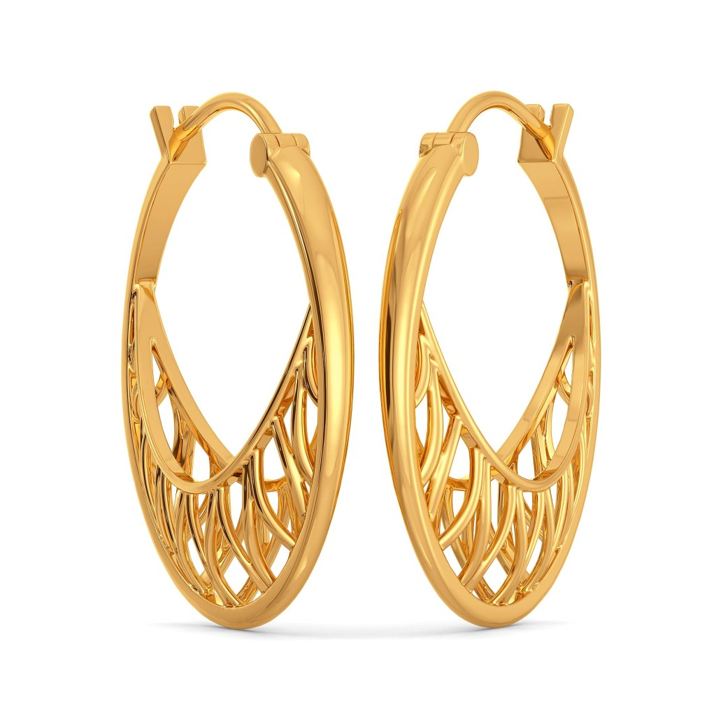 Link O Mesh Gold Earrings