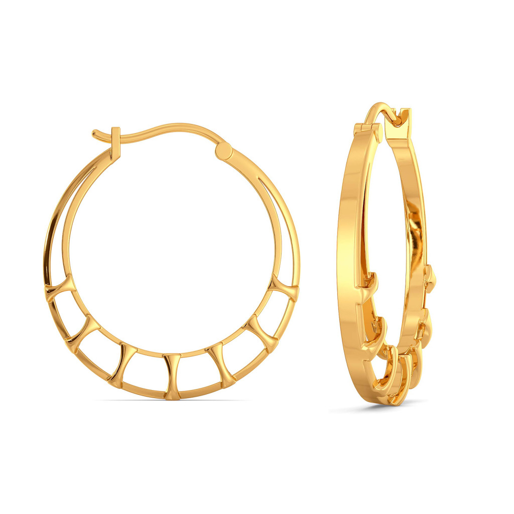 Mesh Matters Gold Earrings