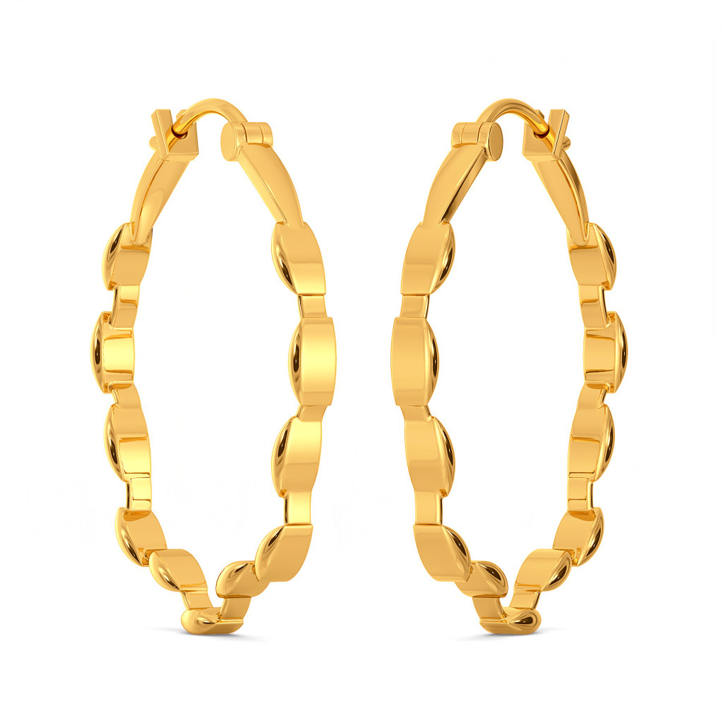Mesh Maze Gold Earrings