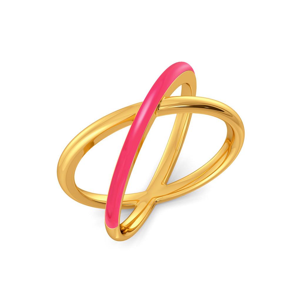 Pink Parade Gold Rings