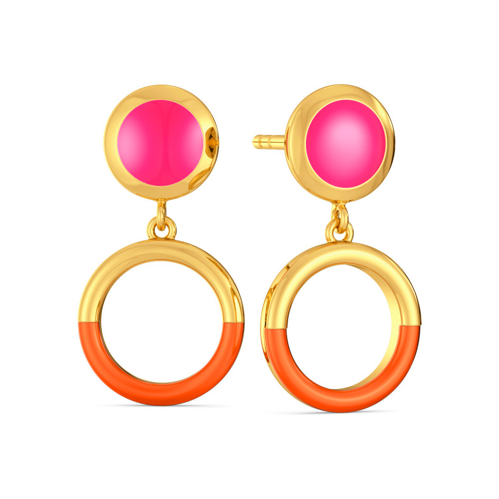 Tangerine Blush Gold Earrings