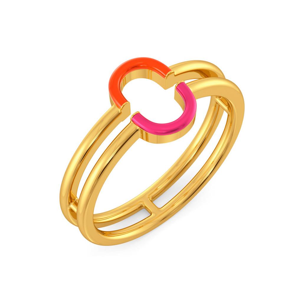Tangerine Blush Gold Rings