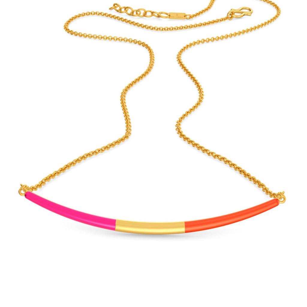 Tangerine Blush Gold Necklaces