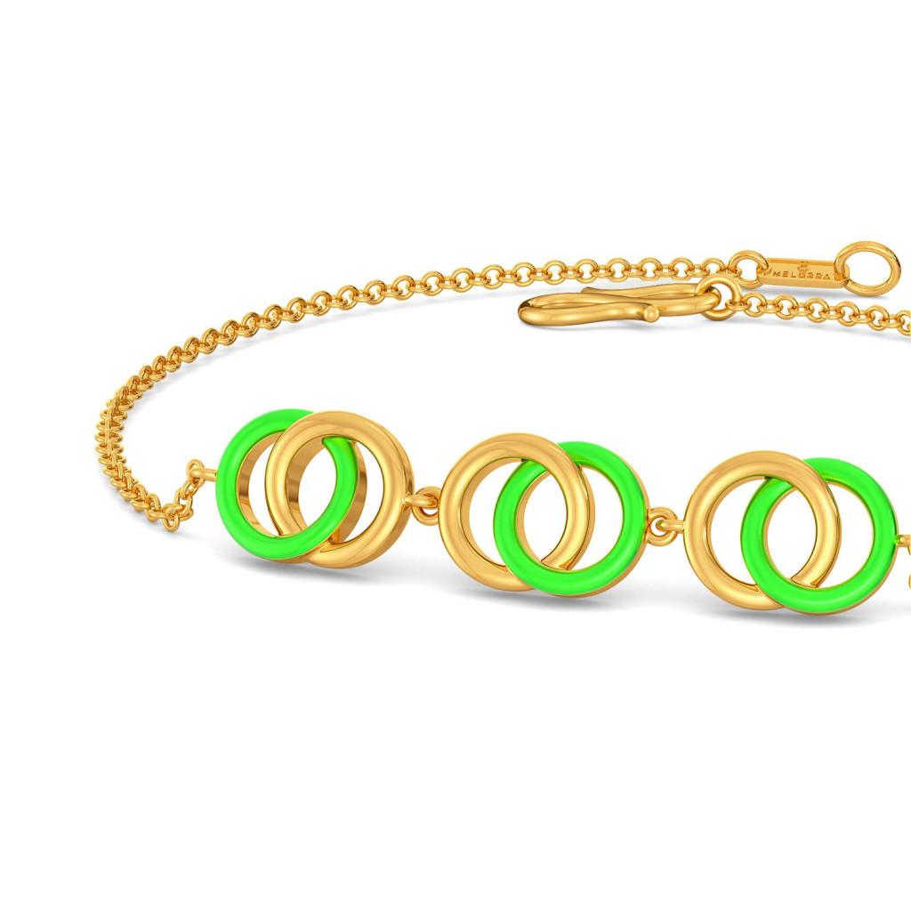 Neon Hex Gold Bracelets
