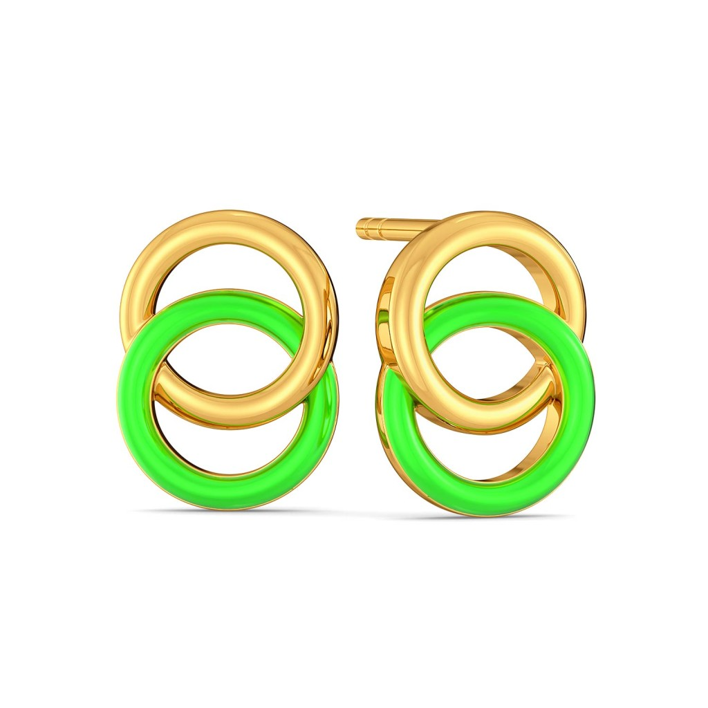 Neon Hex Gold Earrings