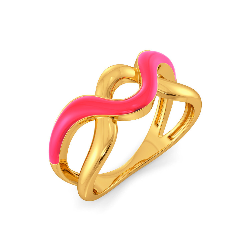 The Punchy Pink Gold Rings