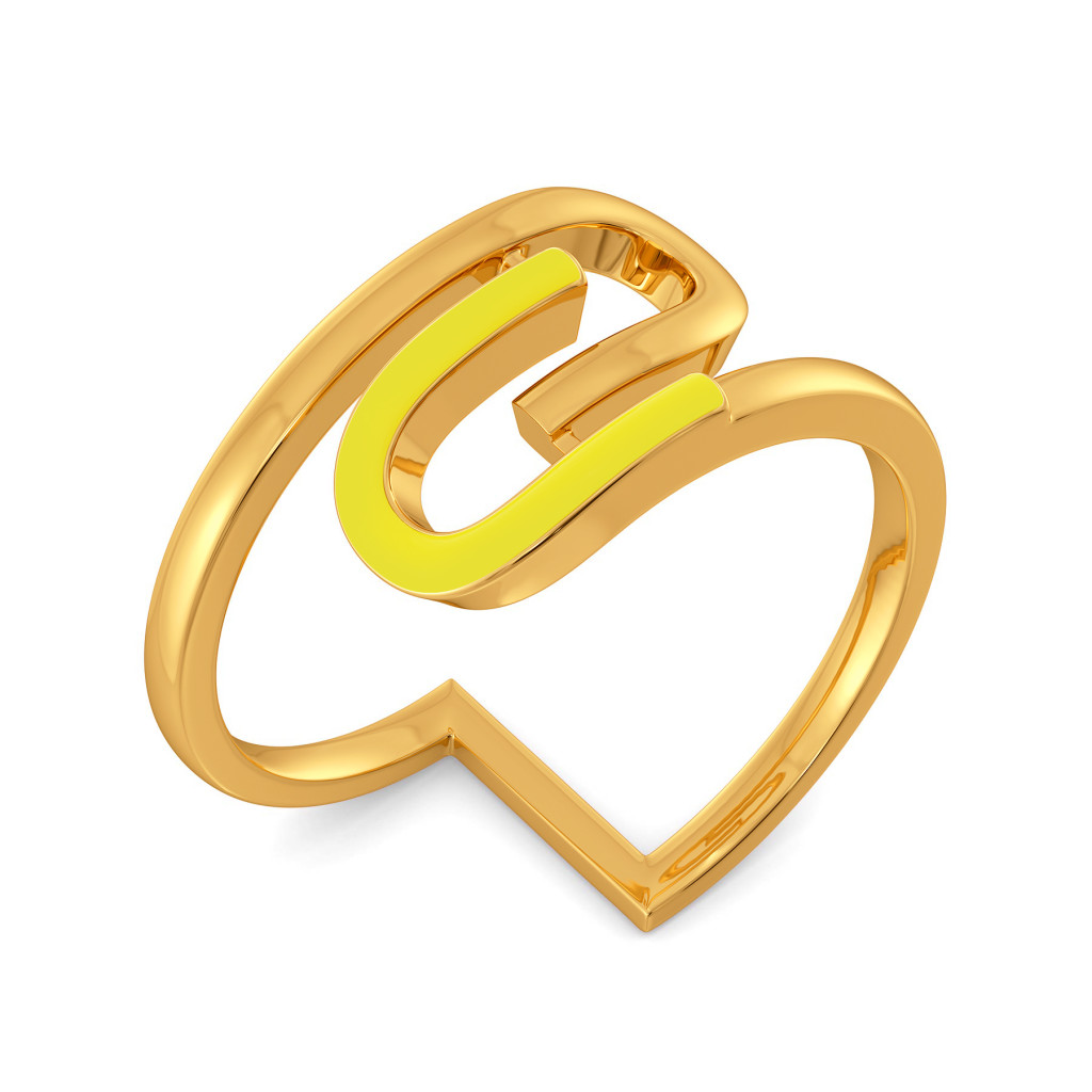 Upon Neon Gold Rings