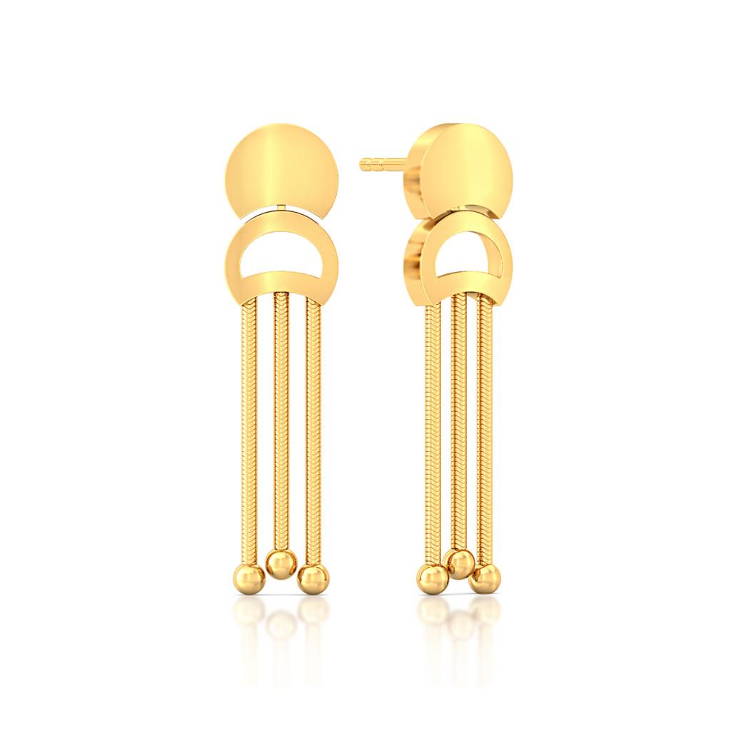 Fringesque Gold Earrings