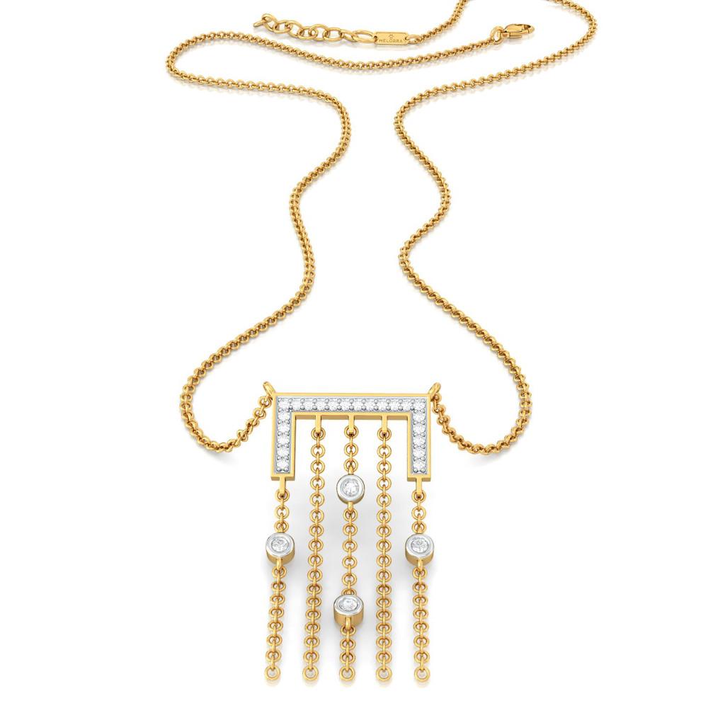 Tangle Tree  Diamond Necklaces