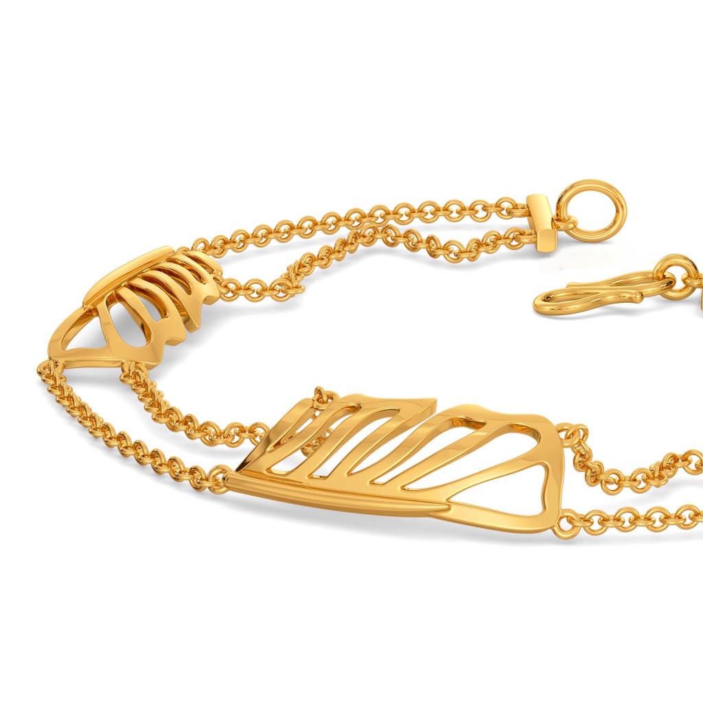 Flirty Feathers Gold Bracelets