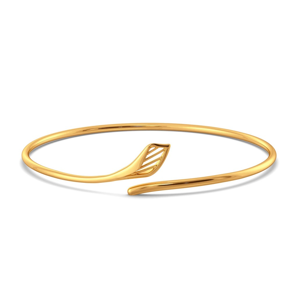 Like A Lily Gold Bangles