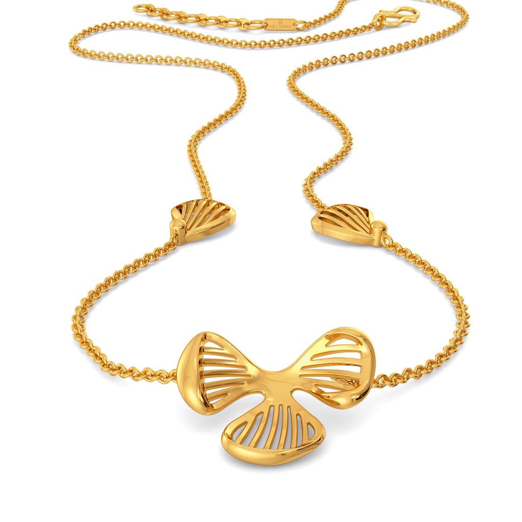 Floral Flock Gold Necklaces