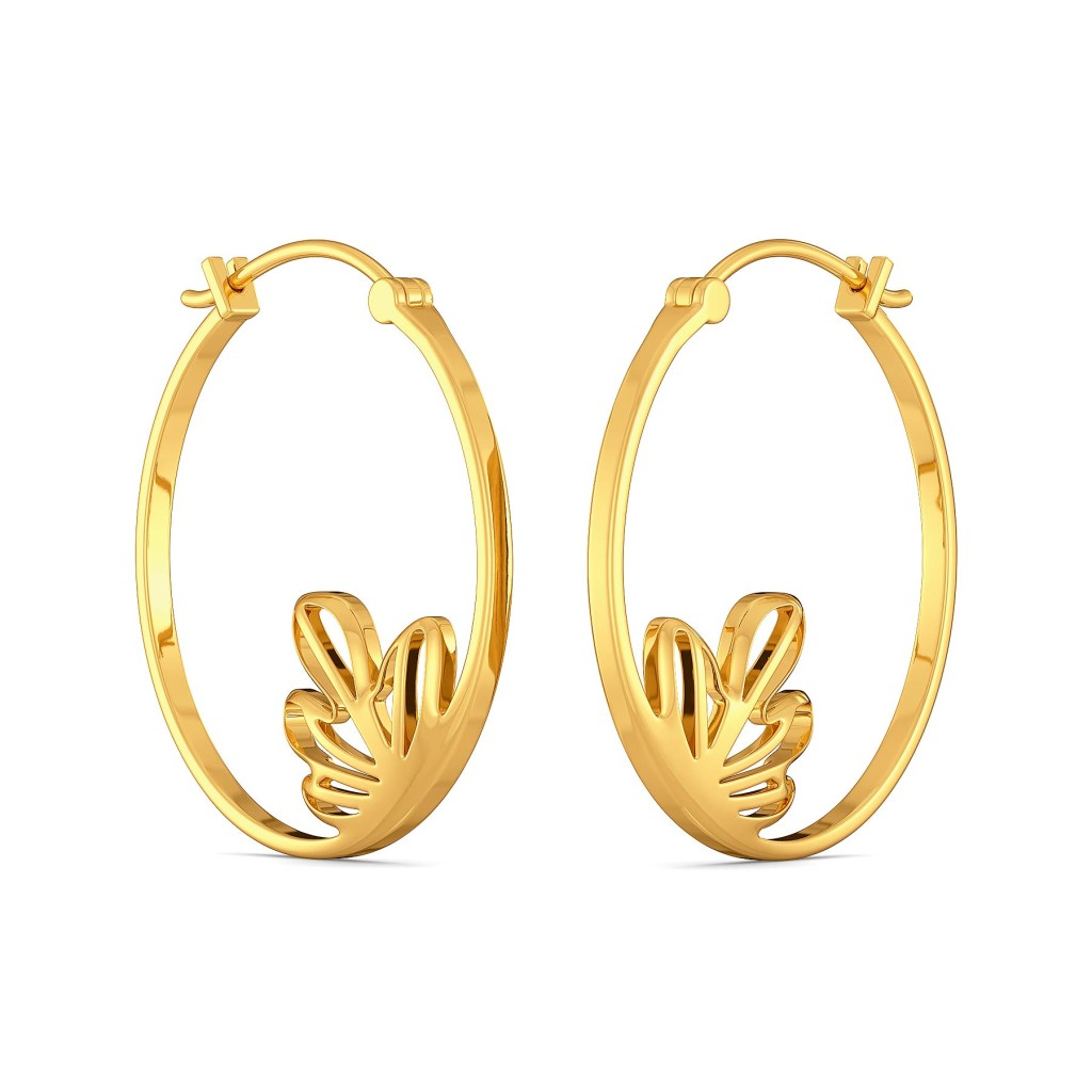 Floral Blooms Gold Earrings