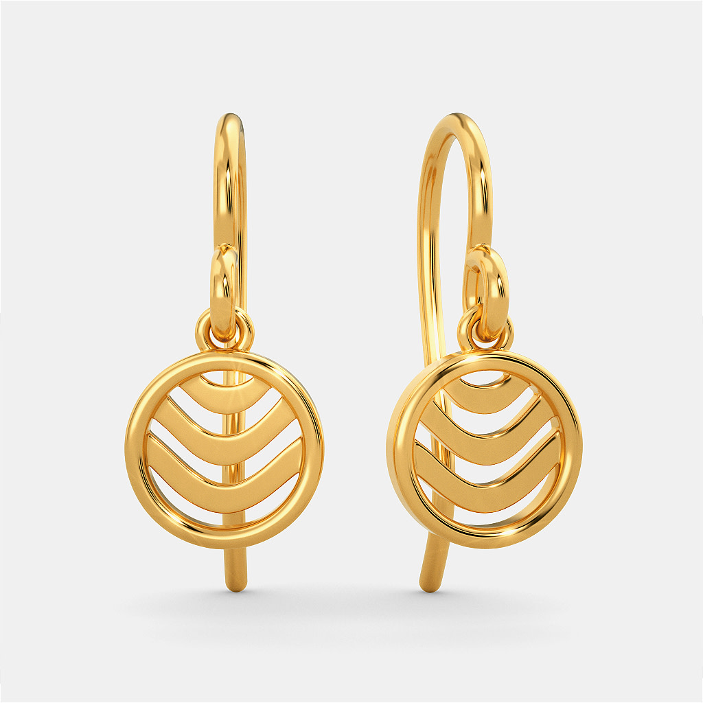 Waves Gold Earrings