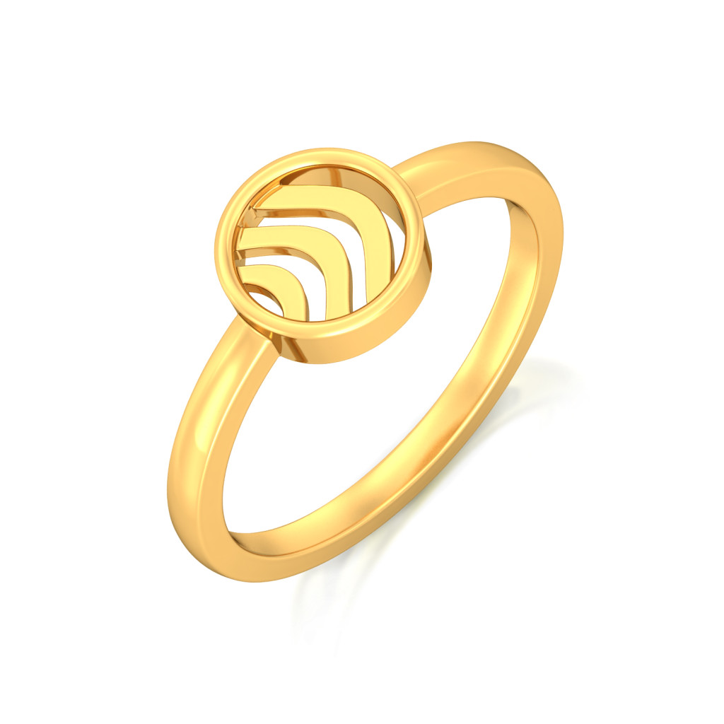 Waves Gold Rings