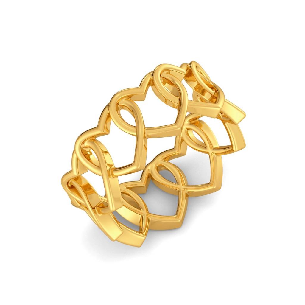 Love Shackles Gold Rings