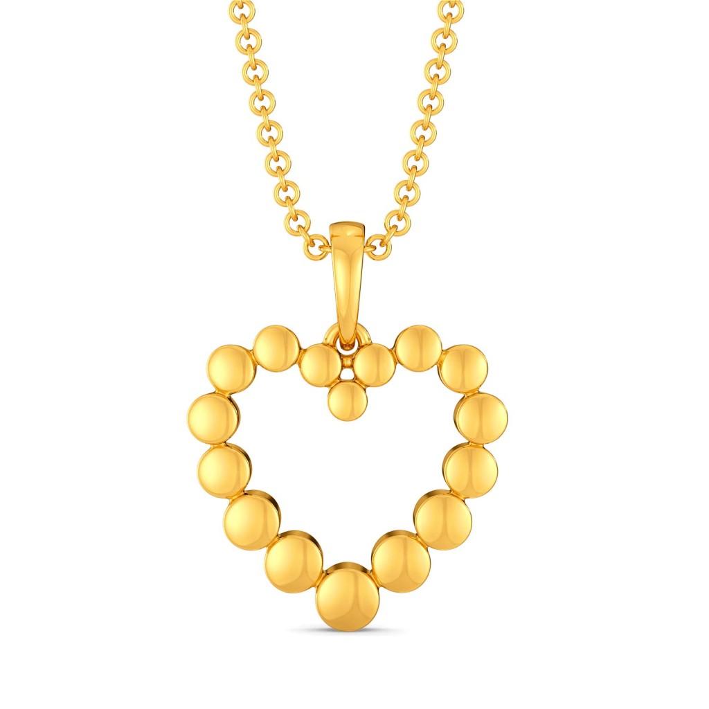 Dancing Hearts Gold Pendants