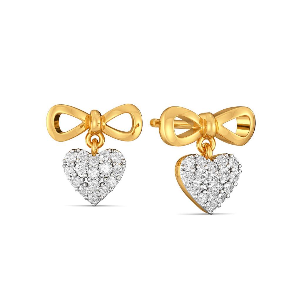 Knotty Hearts Diamond Earrings
