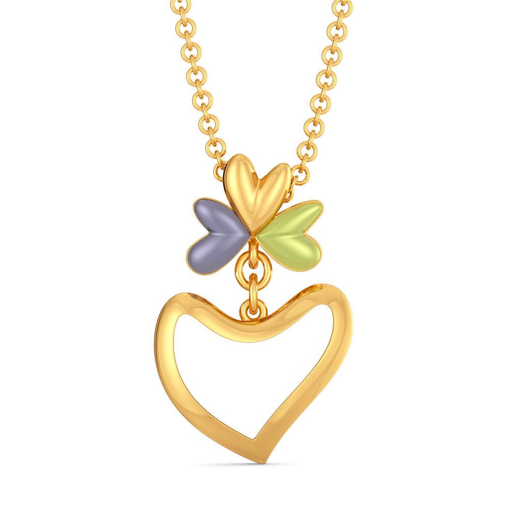 Bouquet of Hearts Gold Pendants