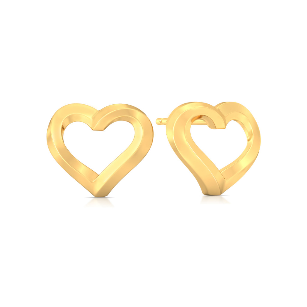 Subtle Signs Gold Earrings