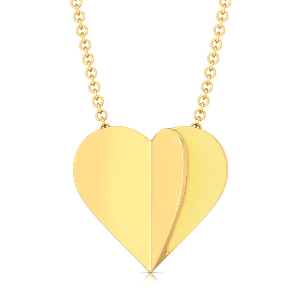 Cold Folds Gold Pendants
