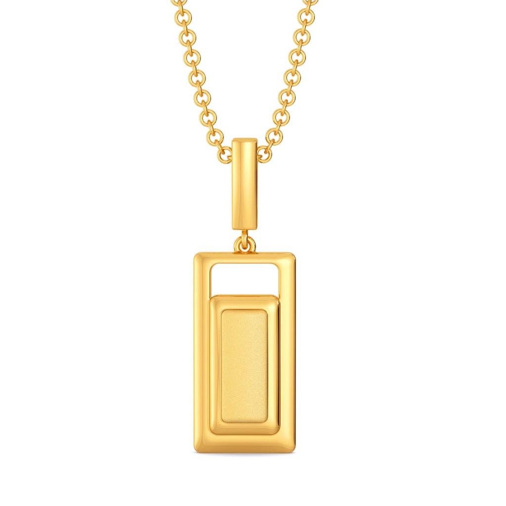 Subtle Seams Gold Pendants