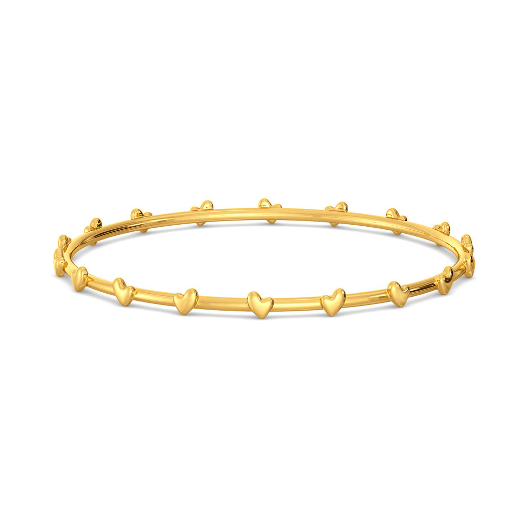 String of Hearts Gold Bangles