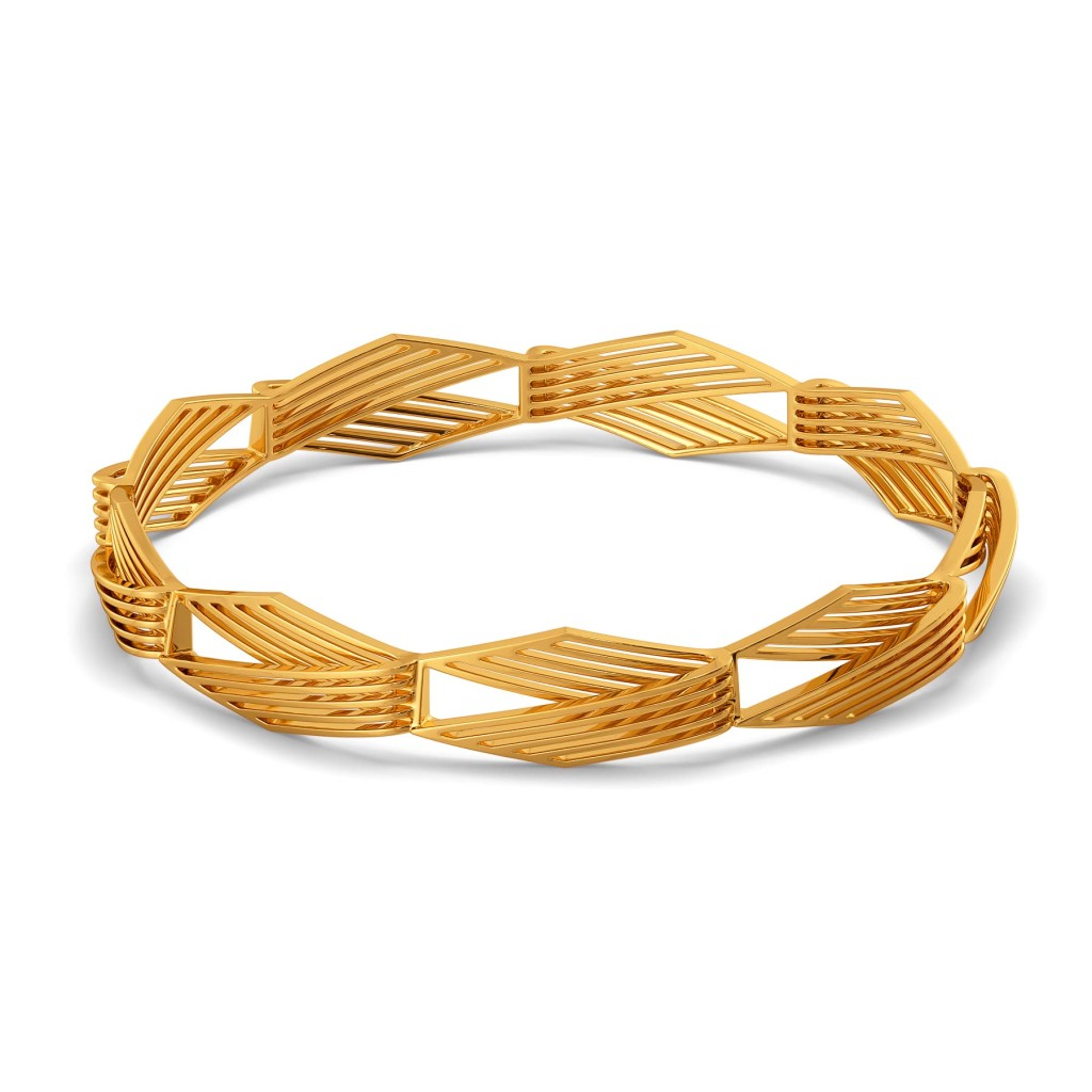 Bold Essentials Gold Bangles