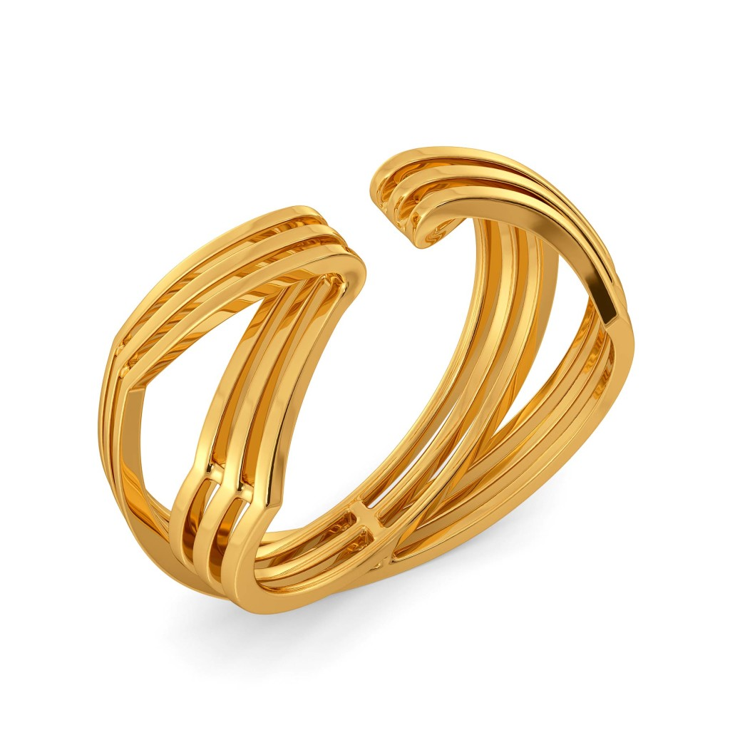 Inside Out Gold Rings