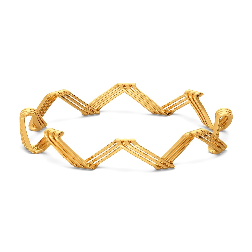 Inside Out Gold Bangles