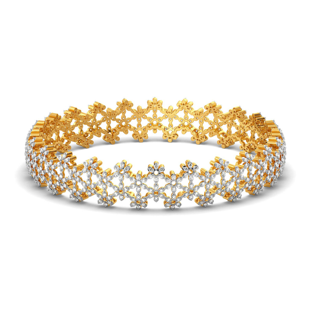 Lace Line Up Diamond Bangles