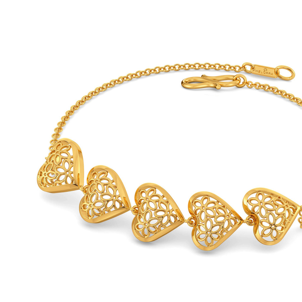 Lacy Blooms Gold Bracelets
