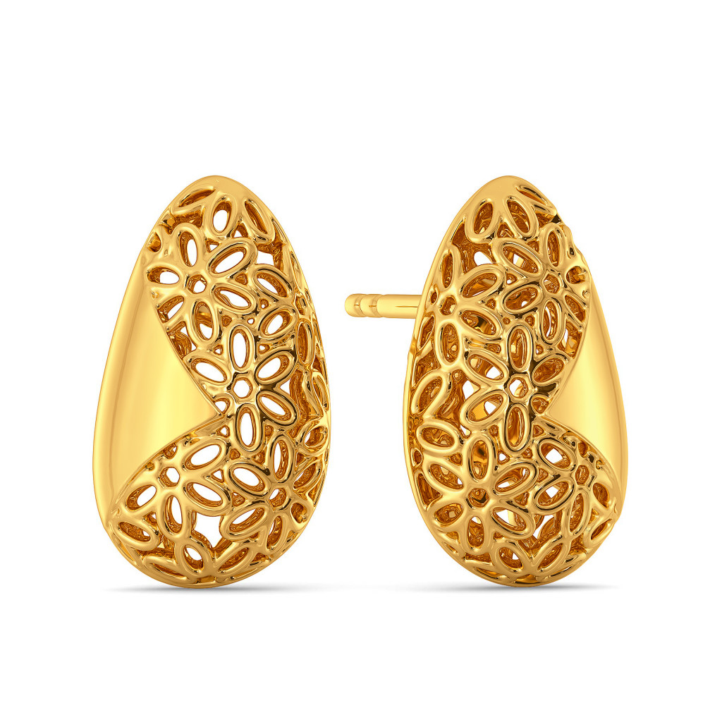Lace Nouveau Gold Earrings