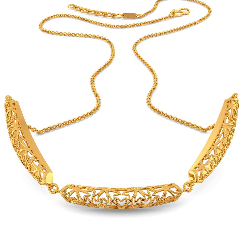 Bend A Lace Gold Necklaces