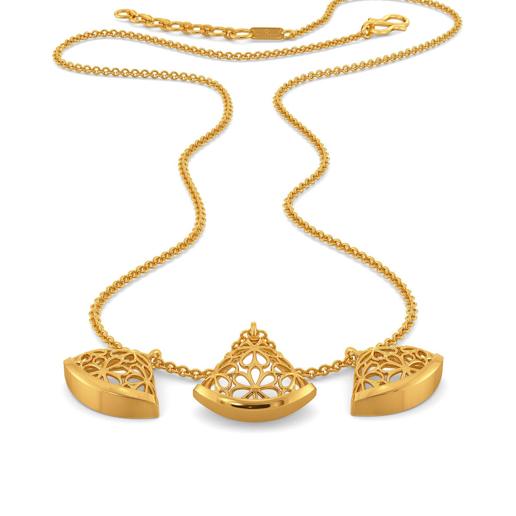 Slice of Lace Gold Necklaces
