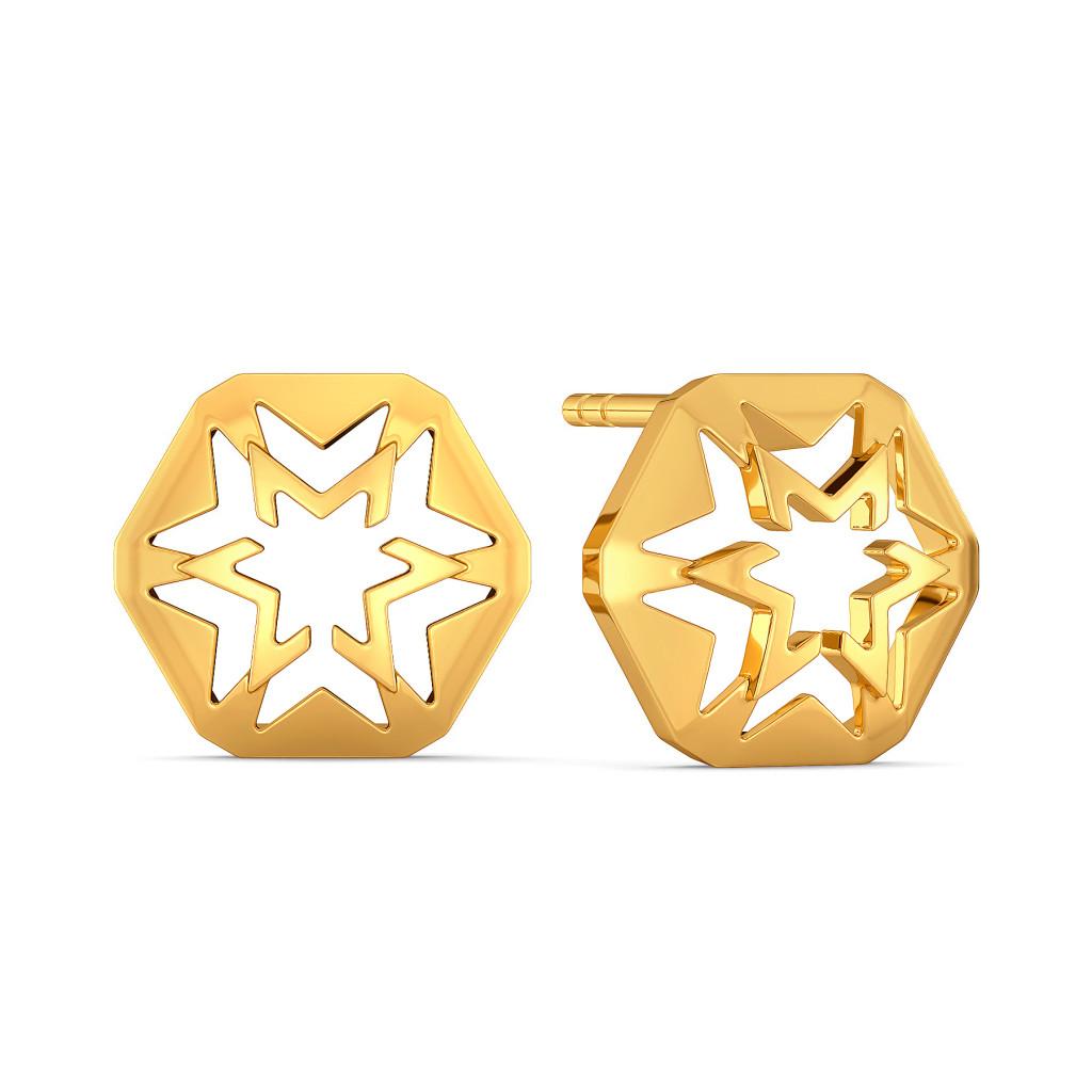 Stellar Forever Gold Earrings