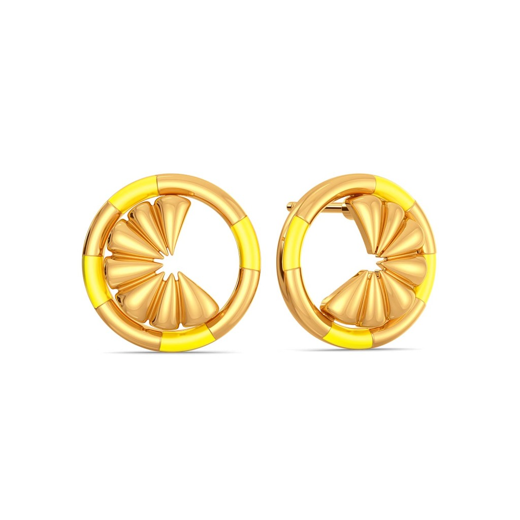 Citrus Limetta  Gold Earrings