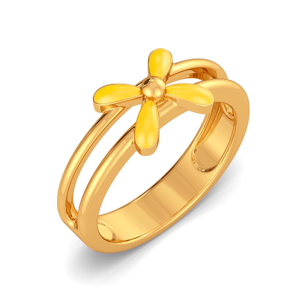 Spring A Bling Gold Rings