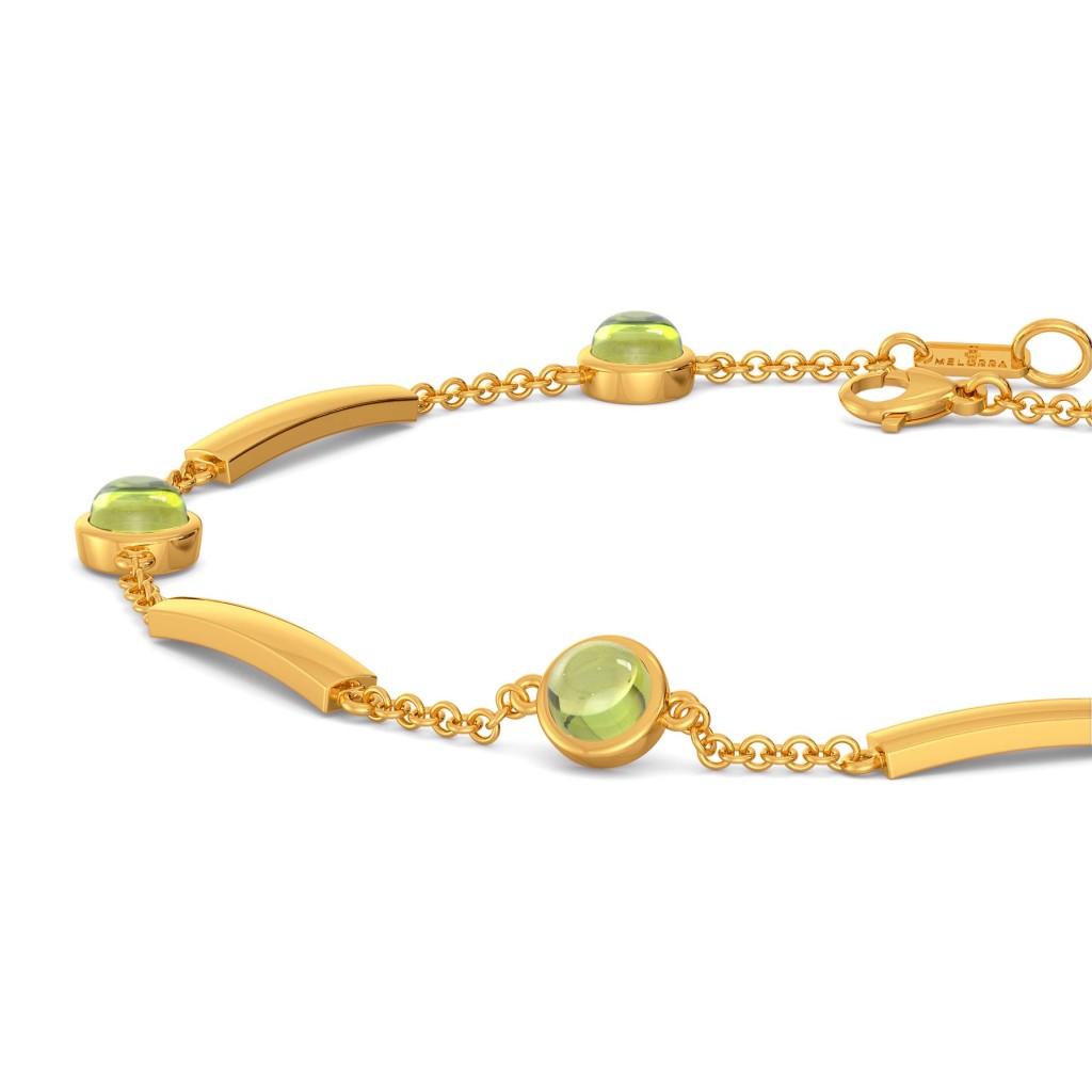 Green Sheen Gemstone Bracelets