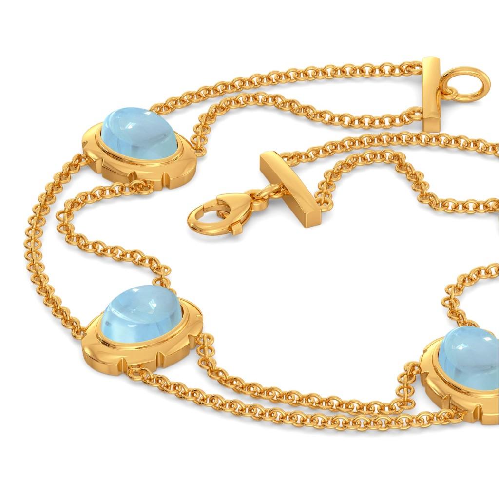 Brewed in Blue Gemstone Bracelets