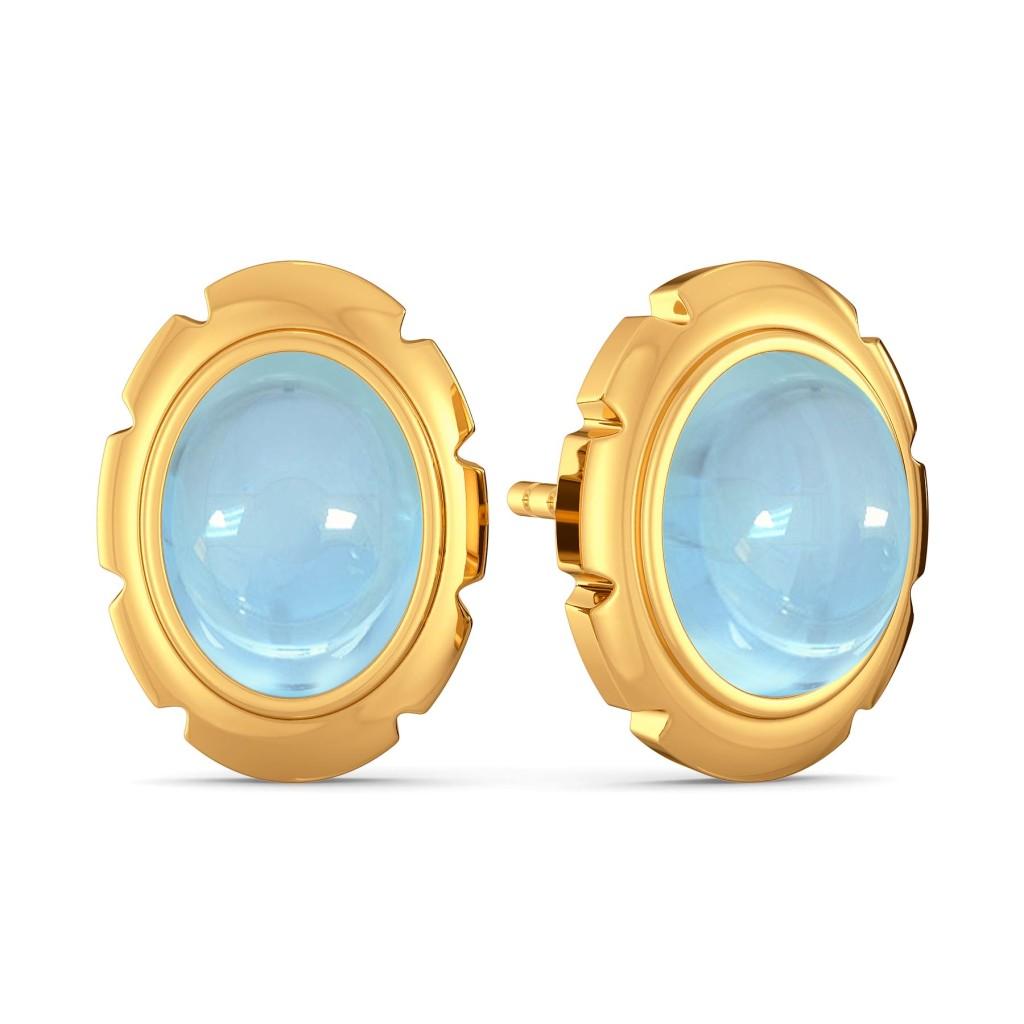 Brewed in Blue Gemstone Earrings