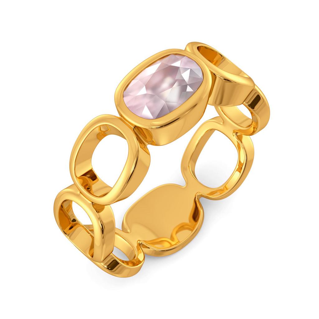 Pink Periwinkle Gemstone Rings