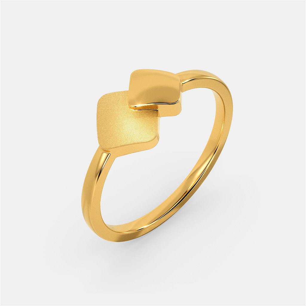 Matt Drop  Gold Rings